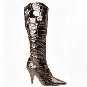 J. Renee size 11 camera heeled tall boots